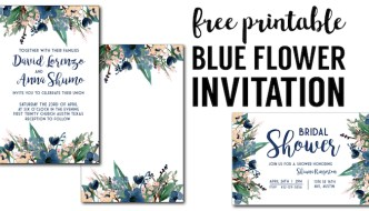 Blue Free Printable Invitation Templates