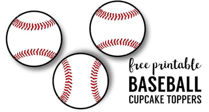 image regarding Baseball Printable referred to as Baseball Cupcake Toppers Free of charge Printable - Paper Path Structure