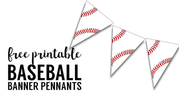picture relating to Printable Pennants called Absolutely free Printable Baseball Banner baseball occasion decorations