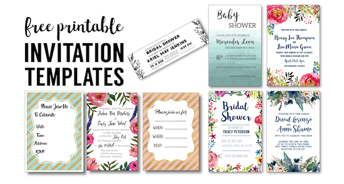 image about Printable Party Invite named Get together Invitation Templates Cost-free Printables - Paper Path Style and design