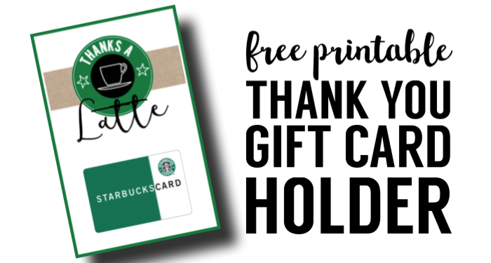 image relating to Starbucks Printable Gift Card identified as Starbucks Trainer Thank Oneself Printable - Paper Path Structure