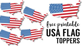 USA Flag Printables {July 4th Crafts}