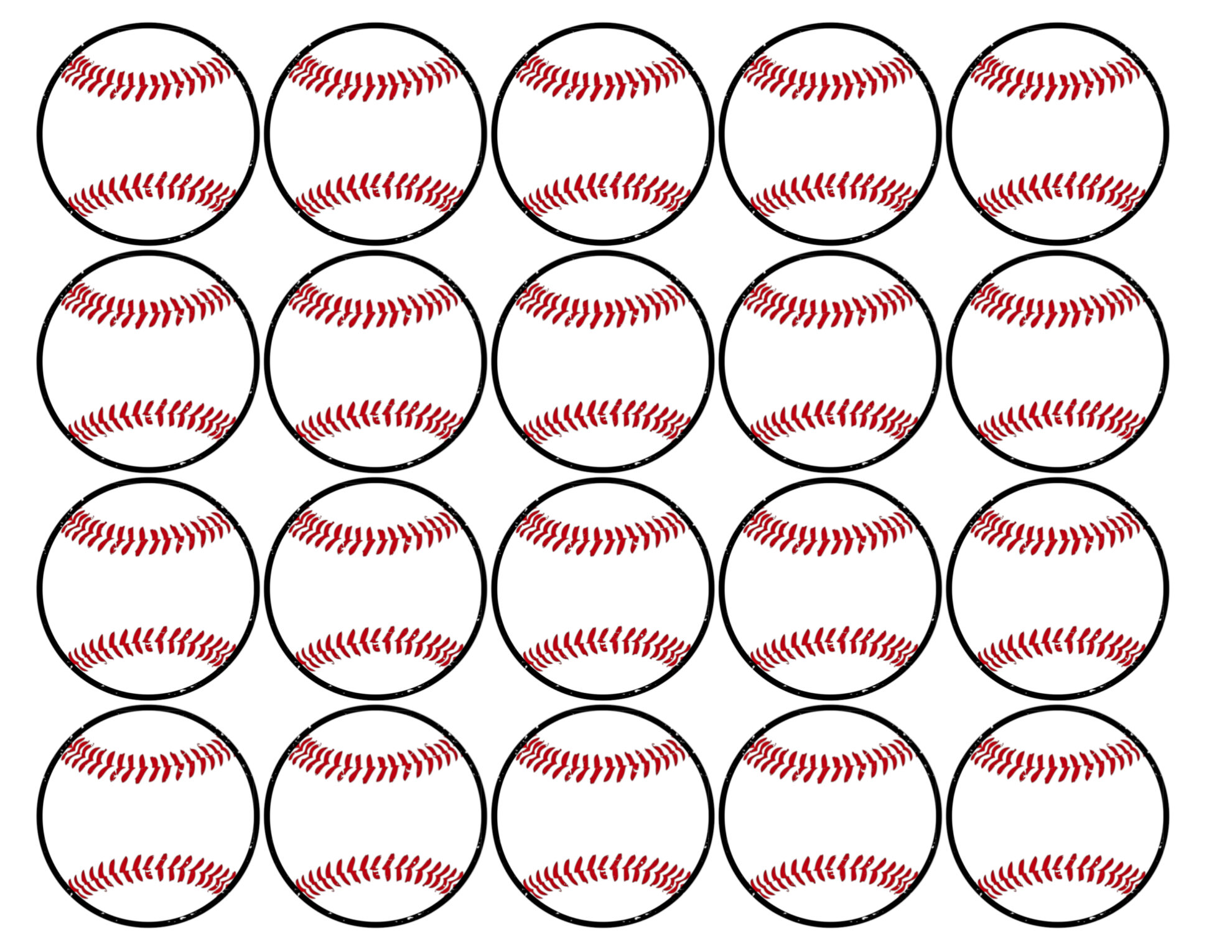 Gratifying image within baseball printable