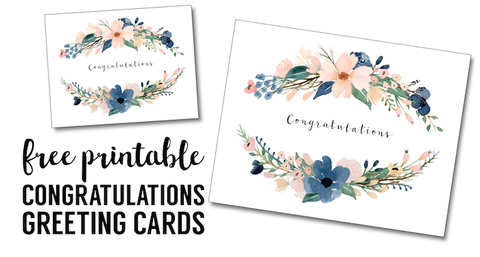 image about Free Printable Congratulations Cards named Congratulations Card Printable cost-free printable greeting