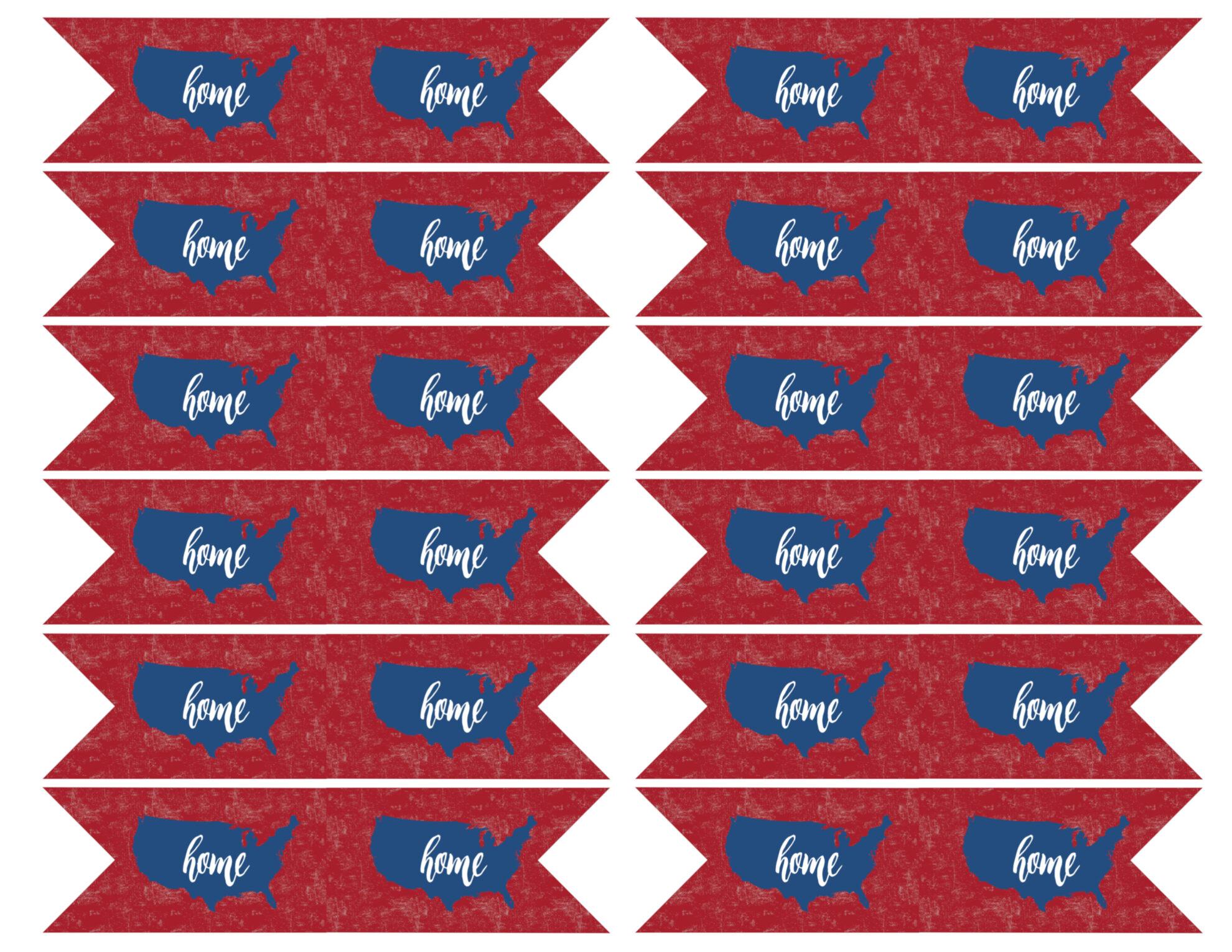 Fourth July Printable Decorations Usa Flag Printable