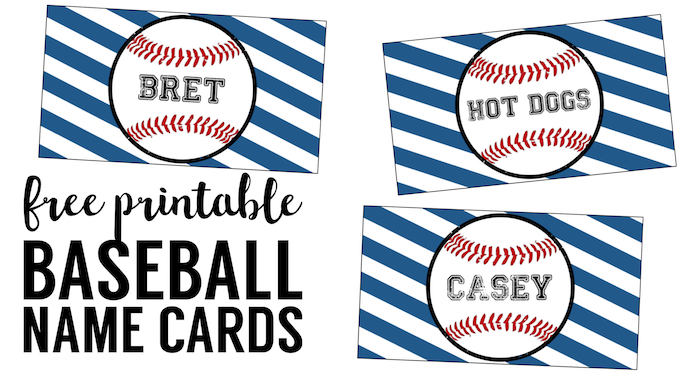 Baseball Place Card Holders Free Printable Paper Trail