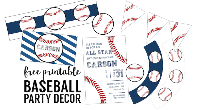 Free baseball printables baseball party decorations for Baseball schedule template free