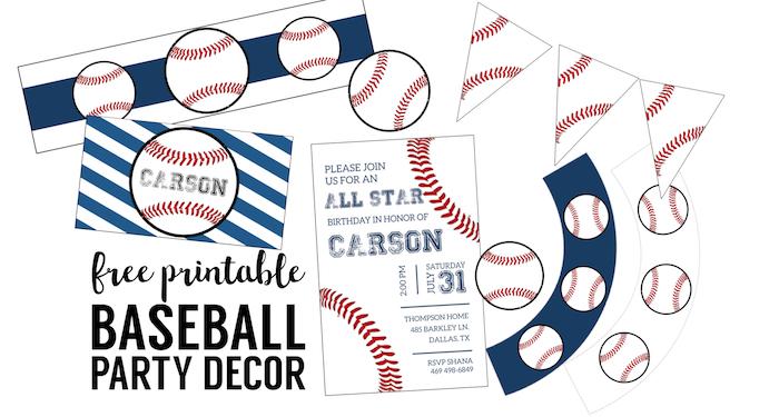 Free Baseball Printables Baseball Party Decorations