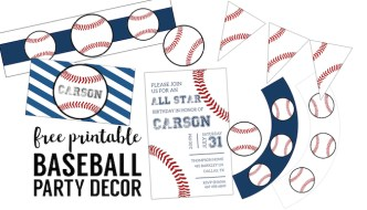 Free Baseball Printables {Baseball Party Decorations}