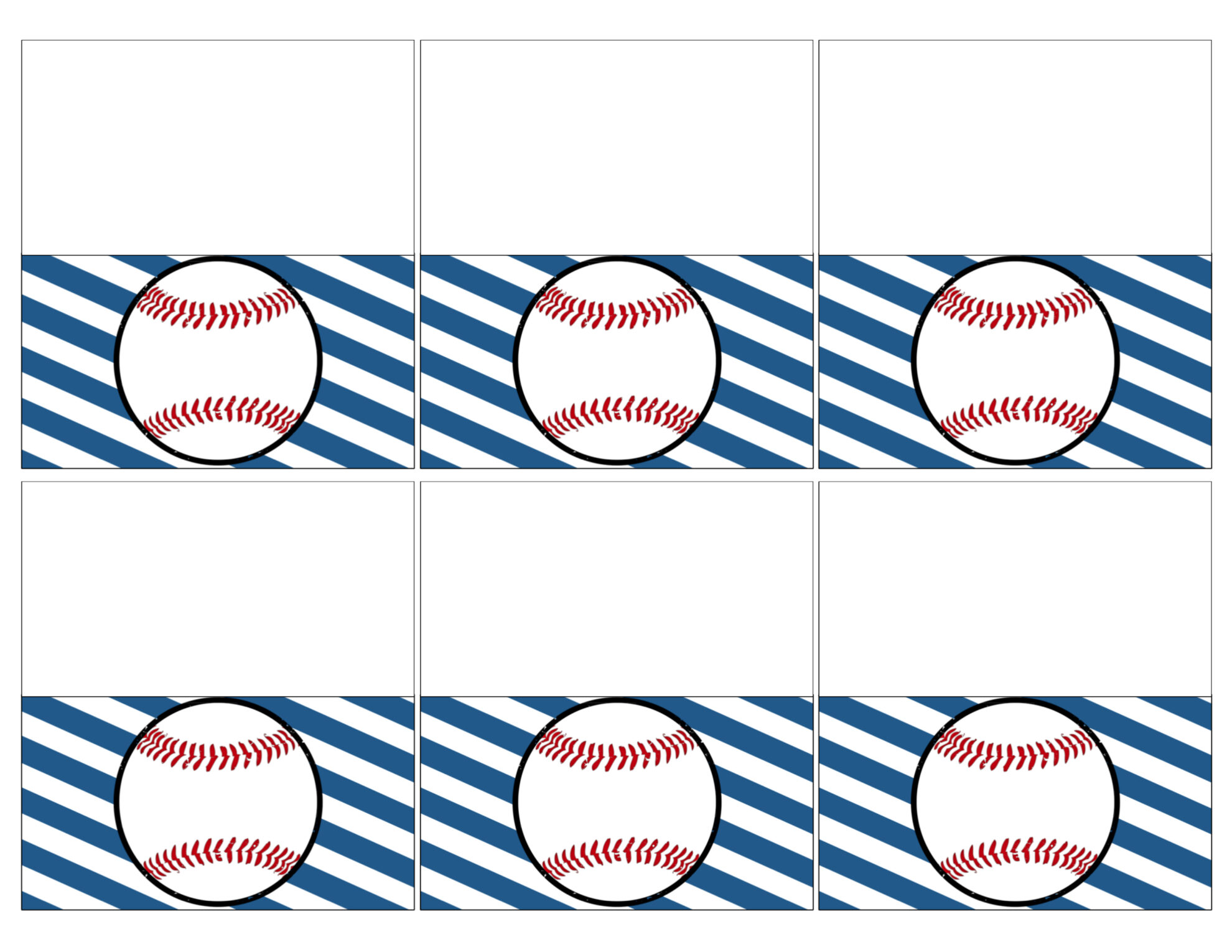 Baseball Place Card Holders Free Printable - Paper Trail Design