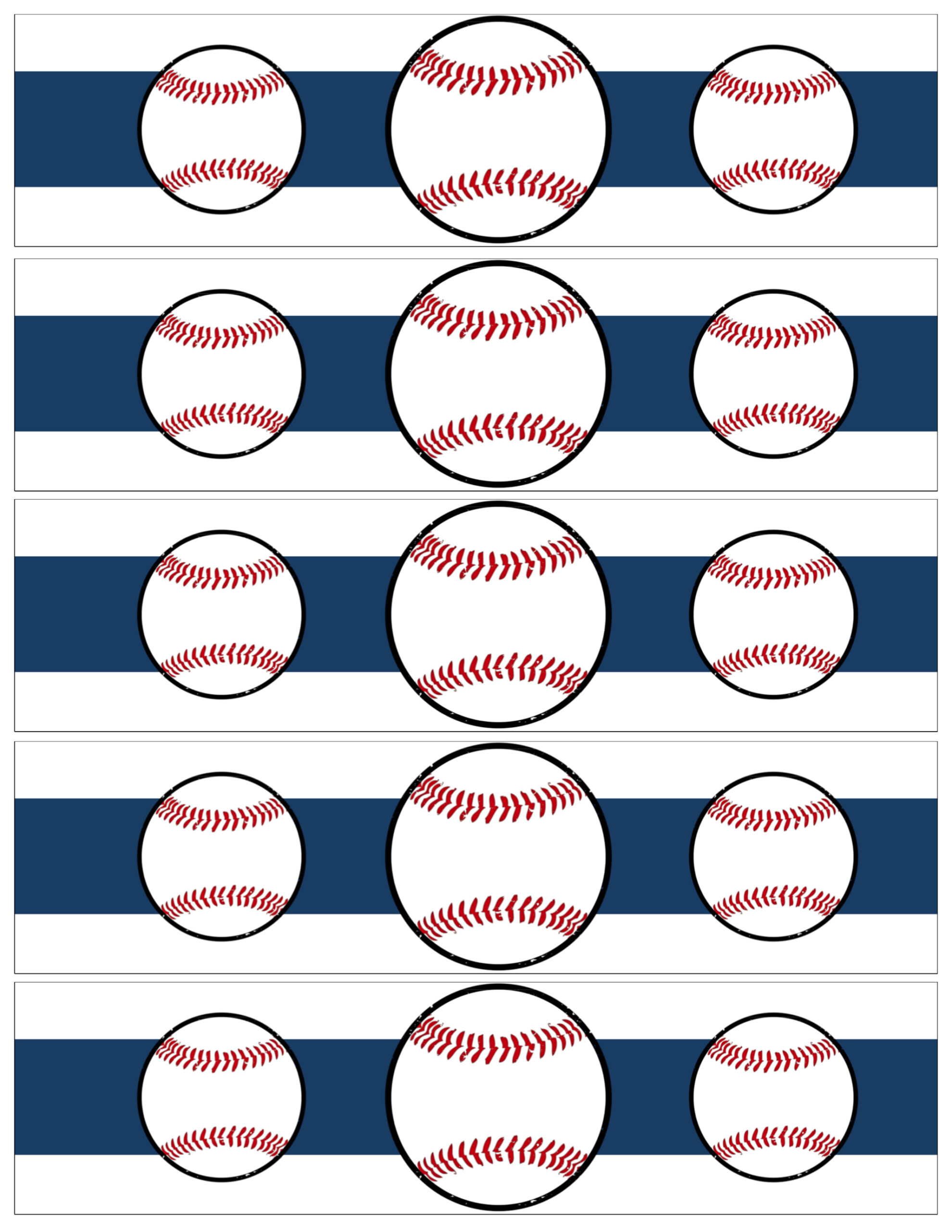 Free Printable Baseball Water Bottle Labels - Paper Trail Design