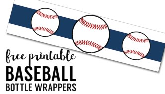 Free Printable Baseball Water Bottle Labels