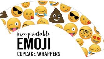 Emoji Cupcake Wrappers Free Printable