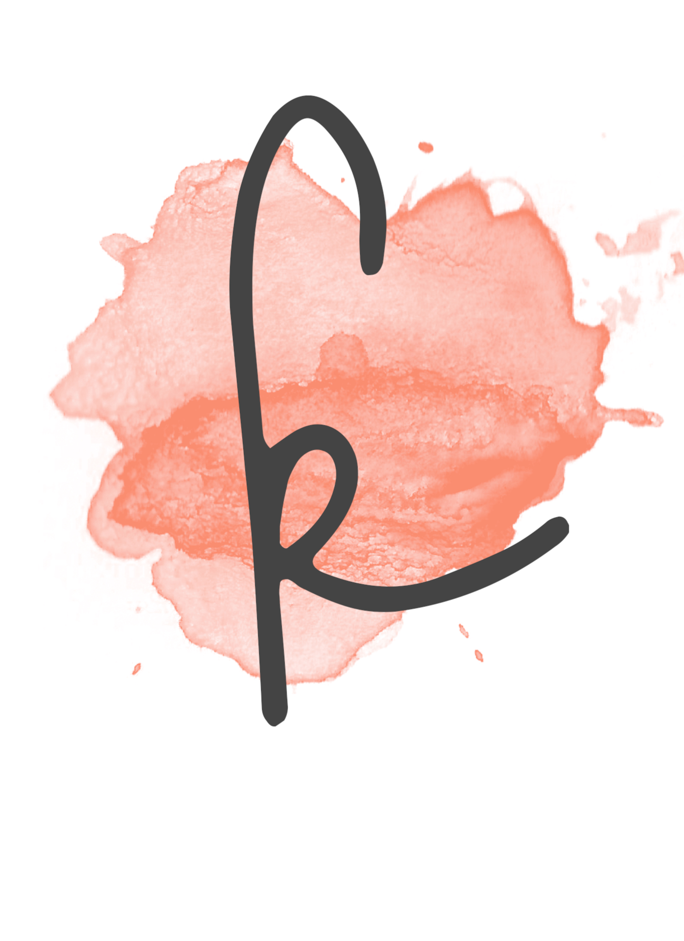 Coral Watercolor Banner Free Printable  Paper Trail Design