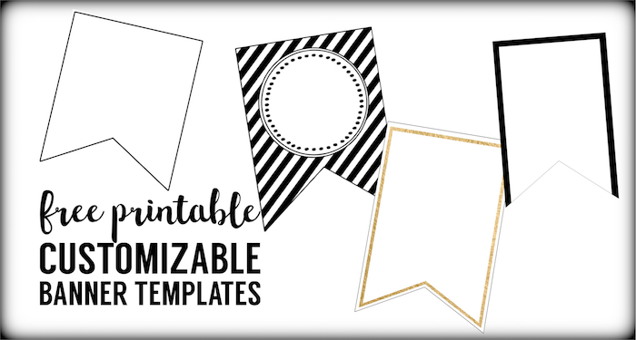 free printable banner templates blank banners paper trail design rh papertraildesign com