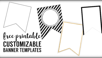 Free Printable Banner Templates {Blank Banners}