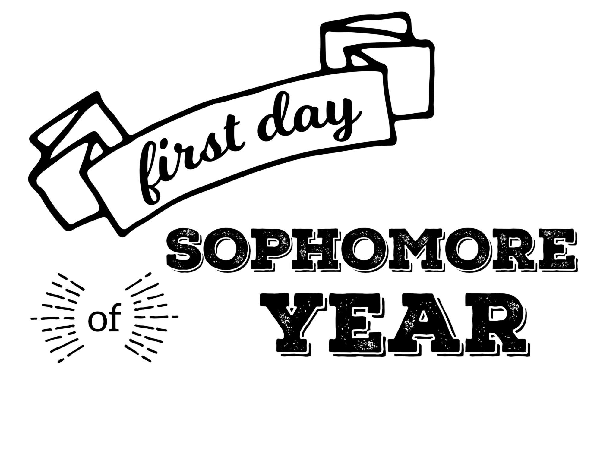 Free Printable First Day Of School Signs