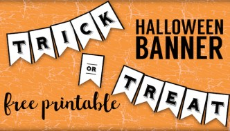 Trick or Treat Banner {Free Printable Halloween Crafts}