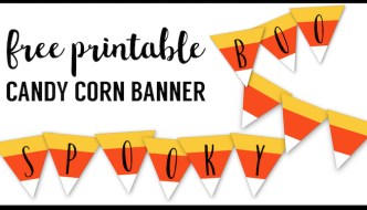 Free Printable Halloween Banner Candy Corn Letters