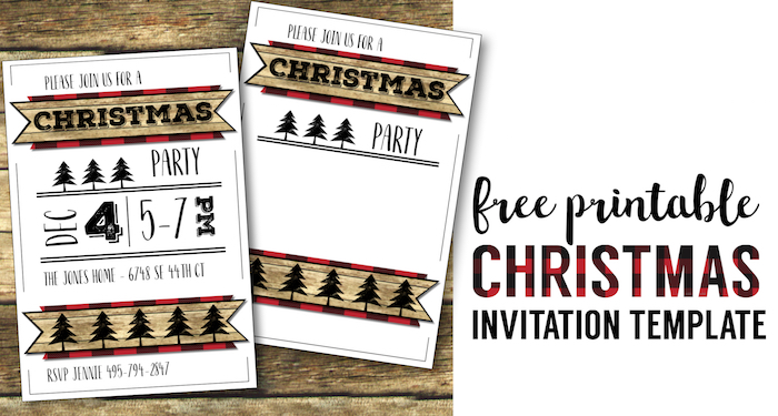 photo about Free Printable Holiday Invitations known as Xmas Celebration Invitation Templates Totally free Printable - Paper