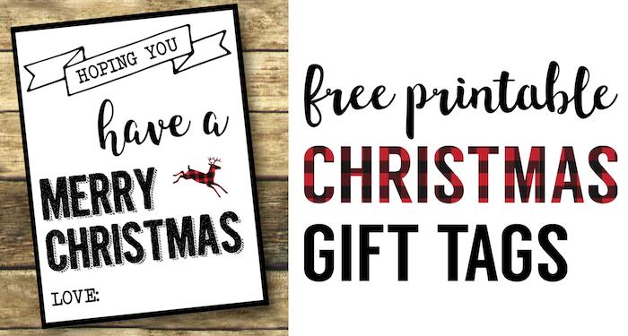 Christmas Labels Printable {Free Christmas Gift Tags Printable ...