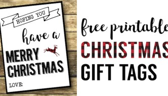 Christmas Labels Printable {Free Christmas Gift Tags Printable}