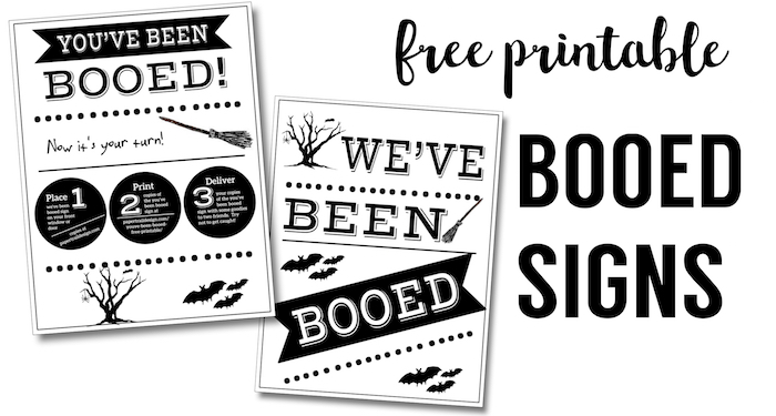 picture regarding Halloween Signs Printable named Youve Been Booed Absolutely free Printable Signs or symptoms - Paper Path Style and design