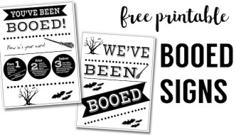 You've Been Booed Free Printable Signs