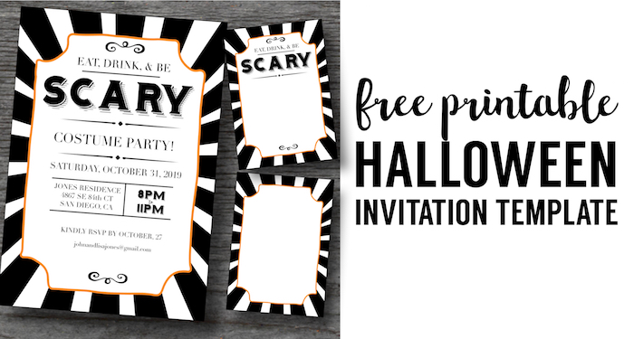 halloween invitations free printable template paper trail design