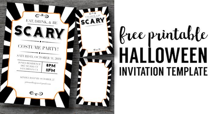 halloween invitations free printable template paper trail design