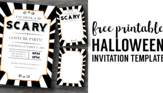 Halloween Invitations Free Printable Template. Easy DIY Halloween invitations templates for your spooky Halloween party. Eat Drink and Be Scary.