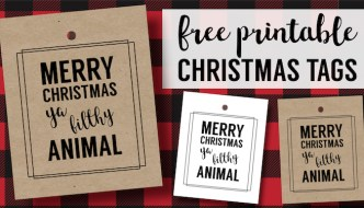 Merry Christmas Ya Filthy Animal Card Free Printable