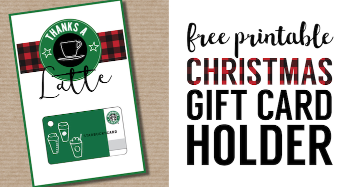 easy teacher christmas gift idea starbucks gift card cute teacher gift free printable