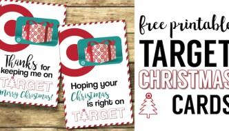 Target Christmas Gift Card Holders {Teachers, Friends, Neighbors}. Free Printable easy DIY Christmas gift for teachers, family, friends, and neighbors.