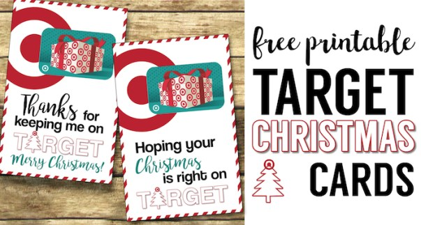 Target Christmas Gift Card Holders {Teachers, Friends, Neighbors}. Free Printable easy DIY Christmas gift for teachers, family, friends, and neighbors.