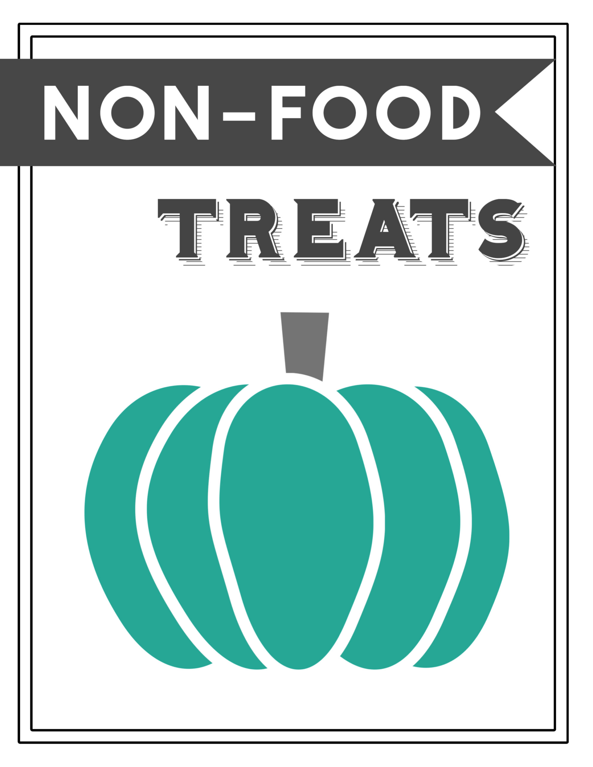 image relating to Printable Sign named Teal Pumpkin Job Printable Indication - Paper Path Structure