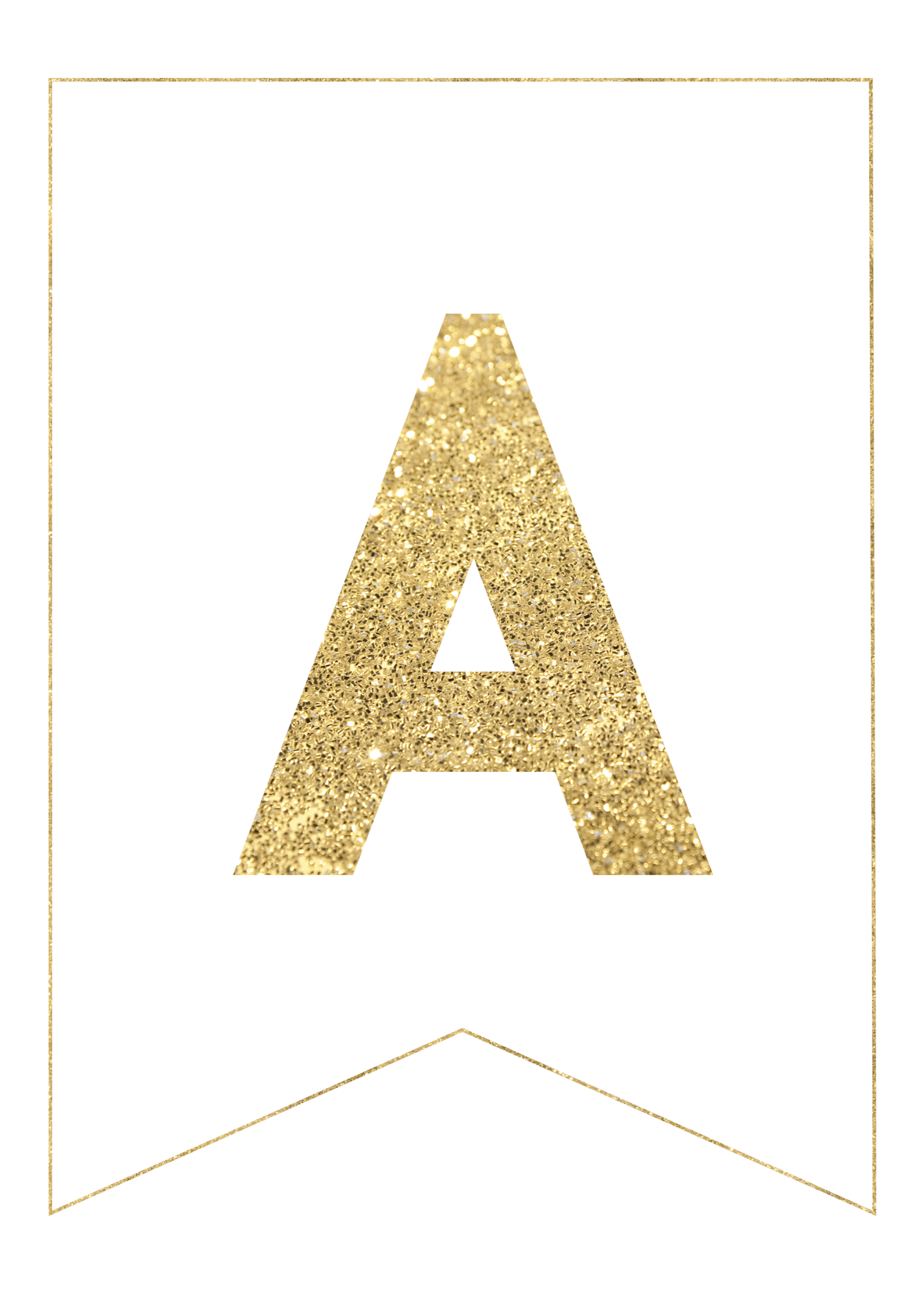 photograph relating to Printable Letters for Banner named Gold Cost-free Printable Banner Letters - Paper Path Layout