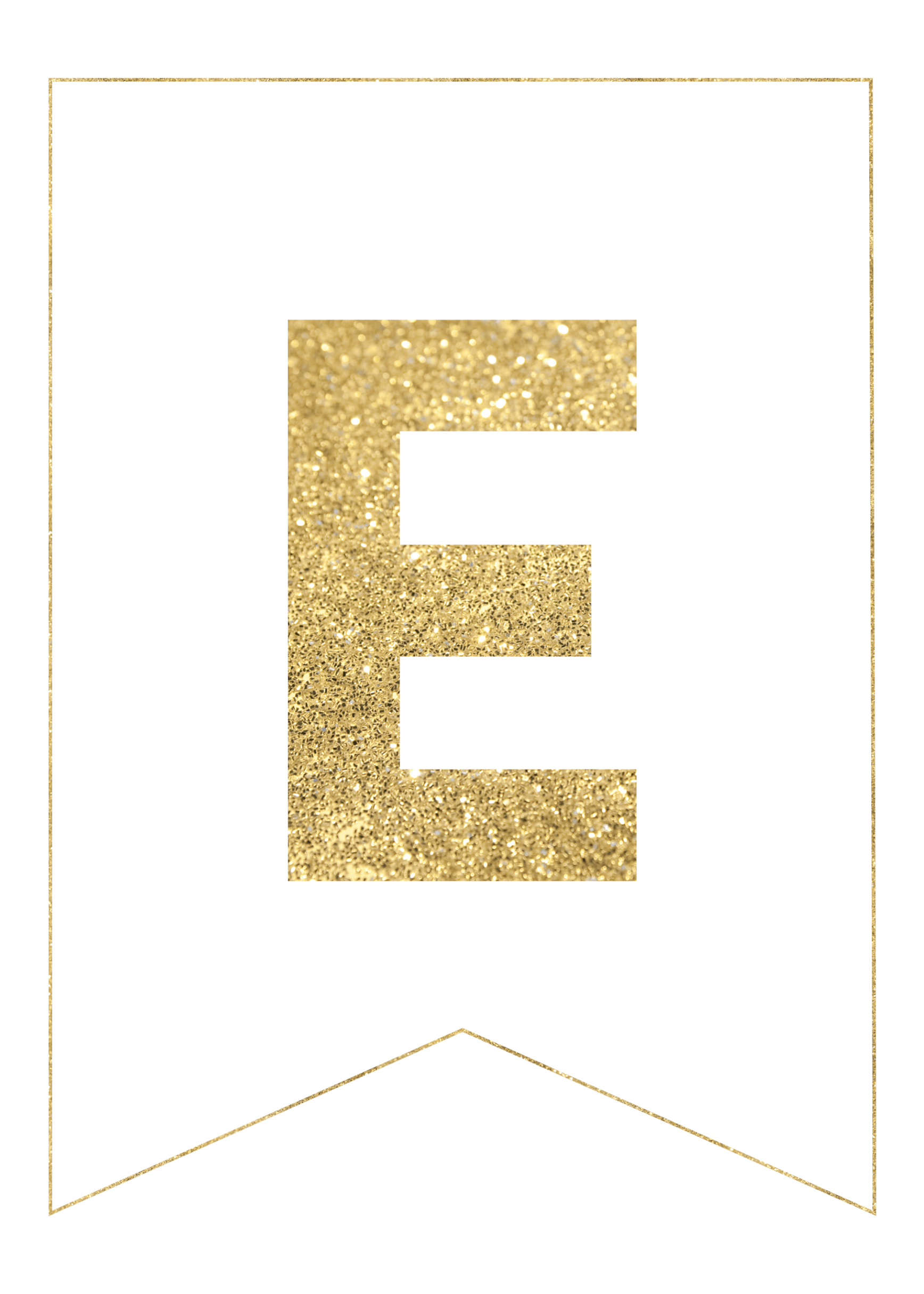 image regarding Letter Printables named Gold Cost-free Printable Banner Letters - Paper Path Design and style