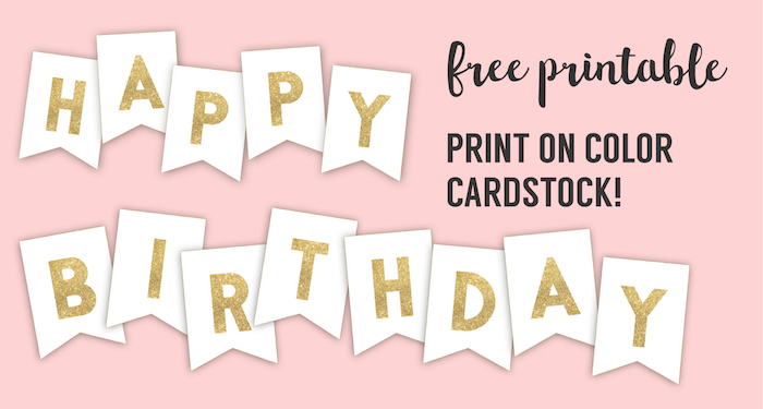 It's just a picture of Divine Free Printable Birthday Banner Templates