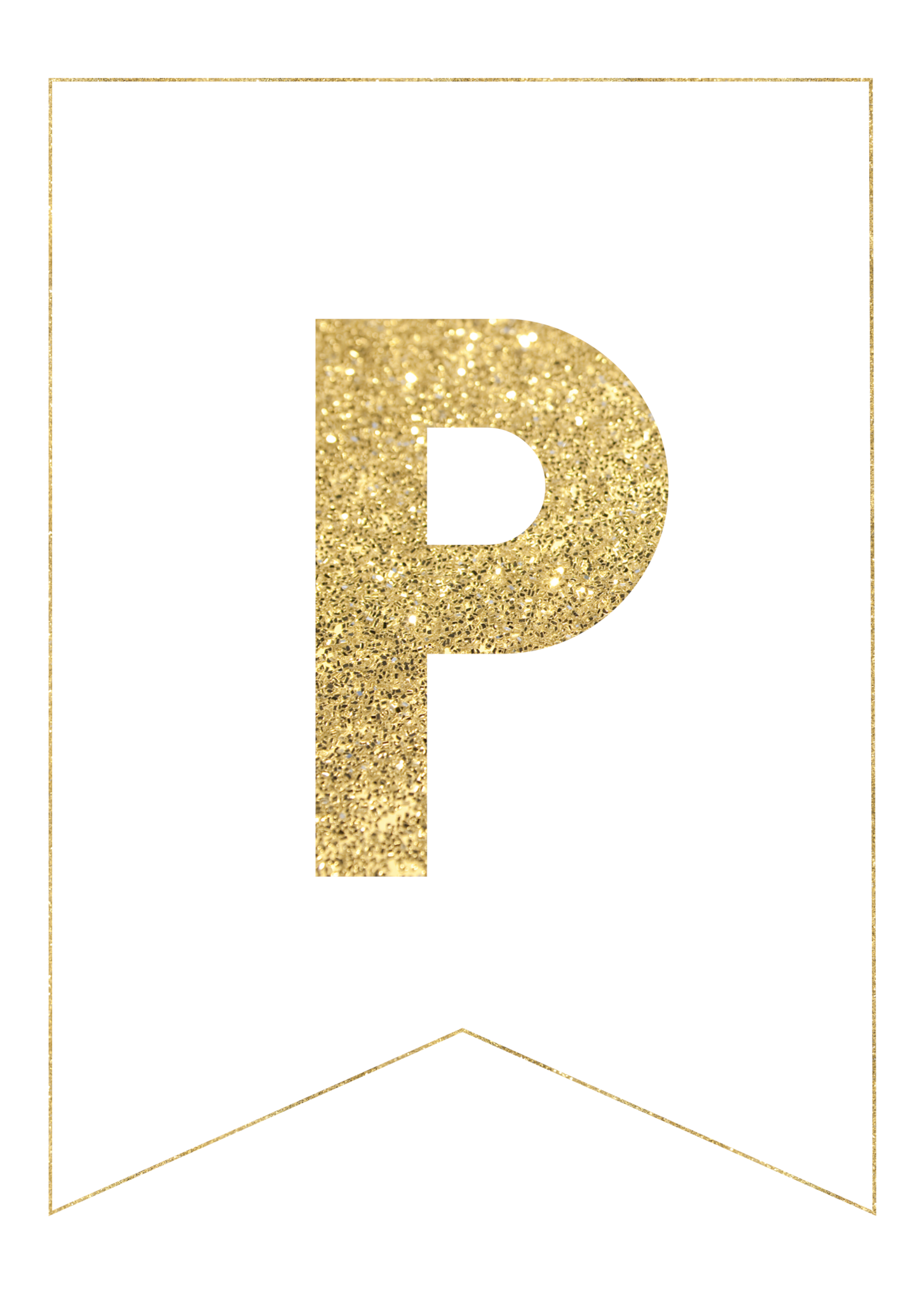 image regarding Happy Birthday Printable Letters named Gold Cost-free Printable Banner Letters - Paper Path Structure