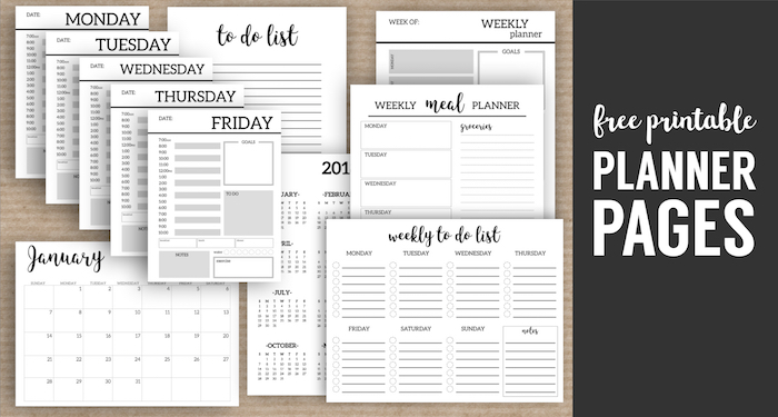 Monthly Planner Template Paper Trail Design