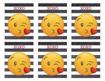 Free Printable Emoji Valentine Cards. Easy DIY emoji Valentine's Day cards. Kissy face emoji, poop emoji heart face and more. #papertraildesign #valentinesday #valentinesdayideas #emoji