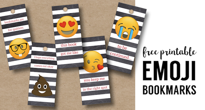 photograph relating to Free Printable Bookmarks called Emoji Bookmarks - No cost Printable Bookmarks - Paper Path Layout