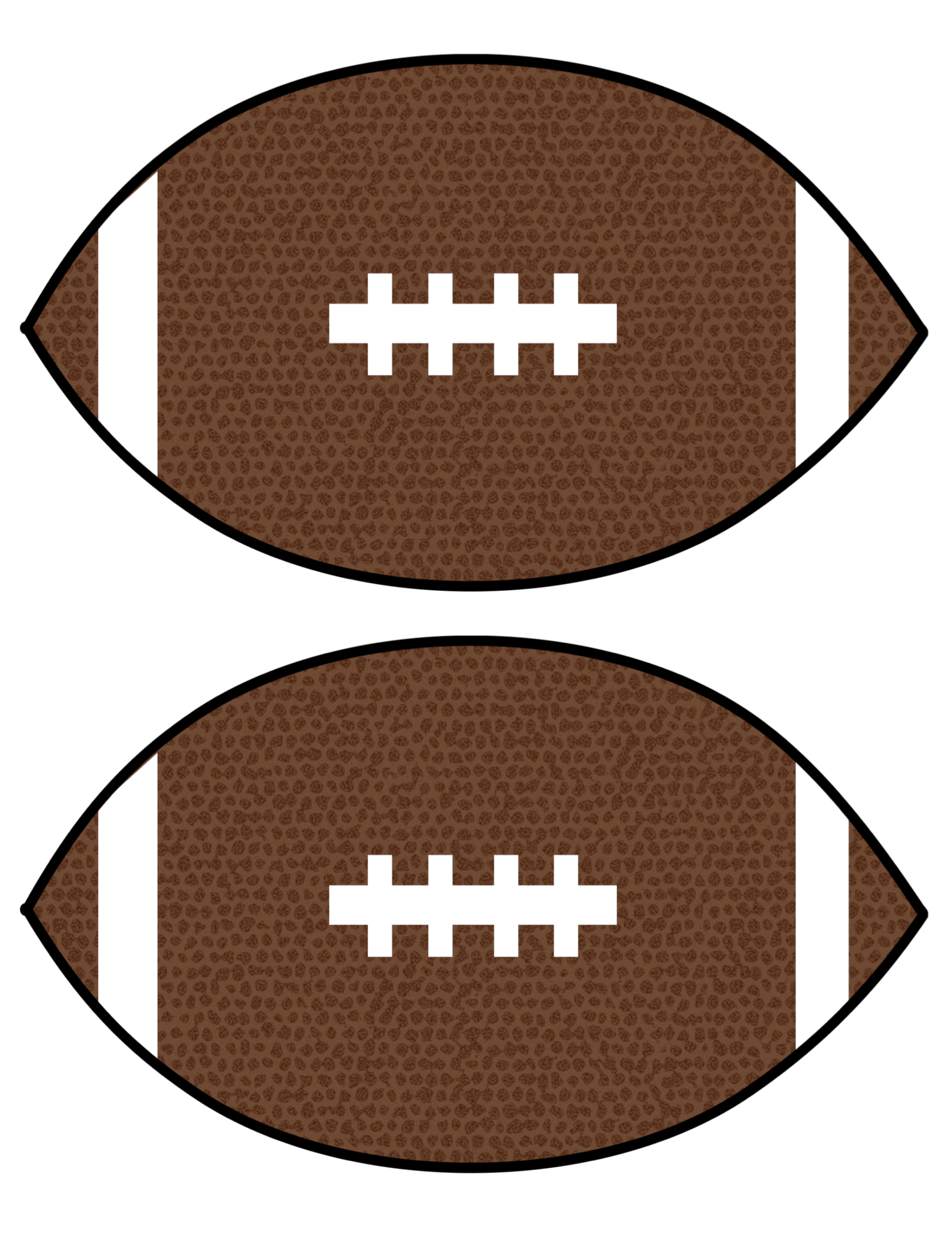 Critical image in printable football