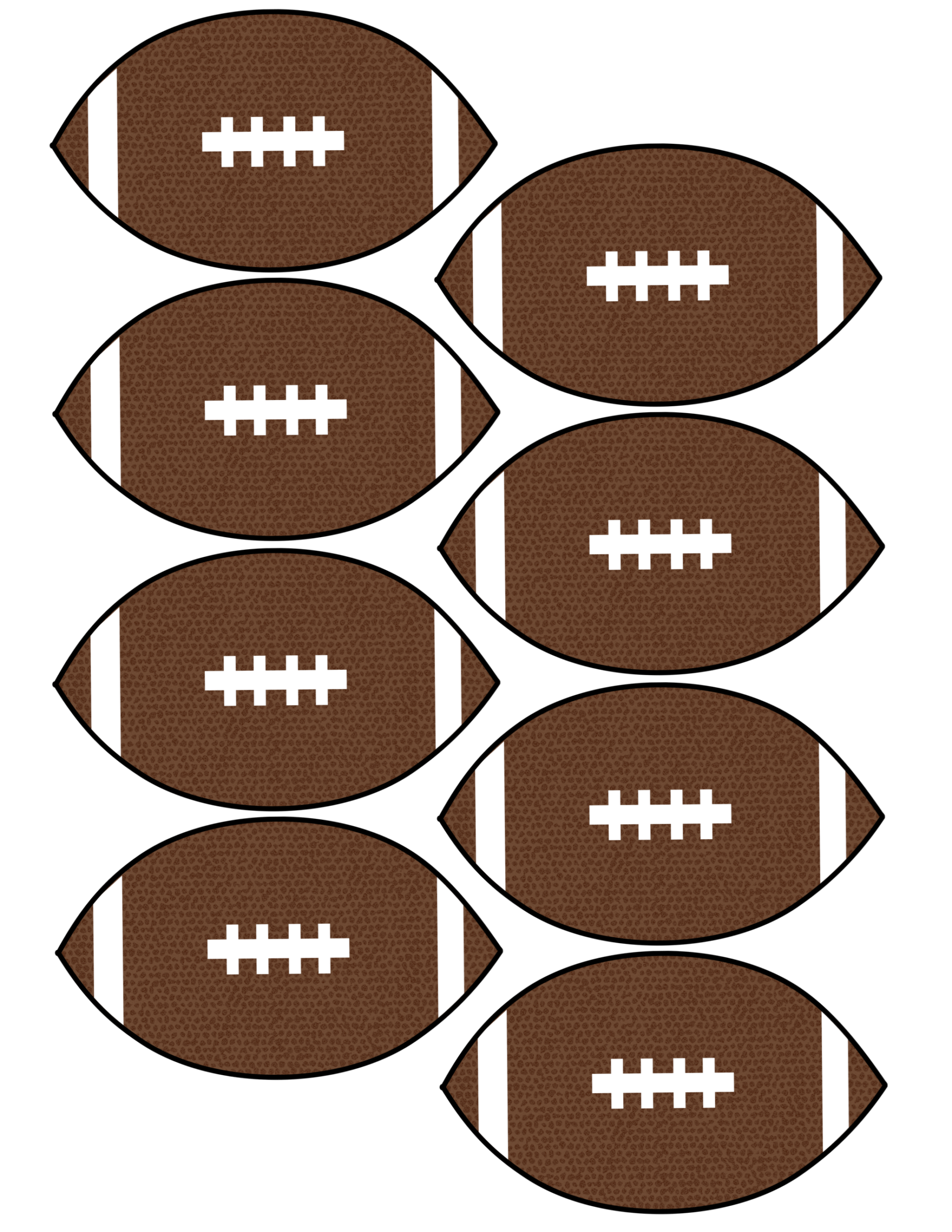 Printable Footballs That Are Decisive