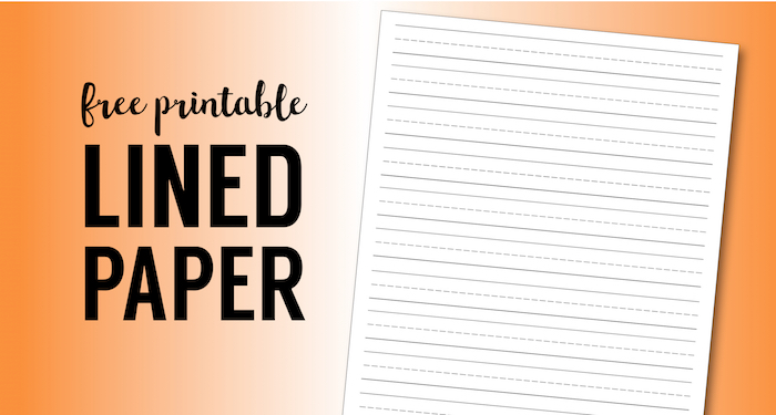 Free Printable Lined Paper {Handwriting Paper Template