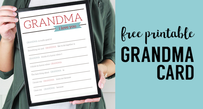 photo about Free Printable Funny Mothers Day Cards referred to as Grandma Presents for Moms Working day - Printable Card - Paper