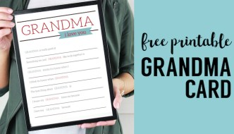 Grandma Gifts for Mother's Day – Printable Card