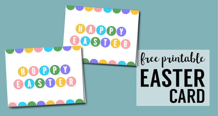 Happy Easter Cards Printable - Free. Easy DIY Easter idea. Free printable Easter cards pastel print for boys, girls or adults. #papertraildesign #eastercard #easter #eastercrafts