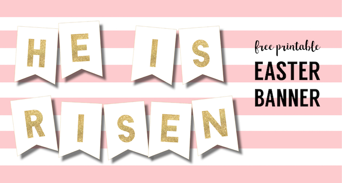 photograph regarding He is Risen Printable named Do-it-yourself Non secular He is Risen Banner Free of charge Printable - Paper